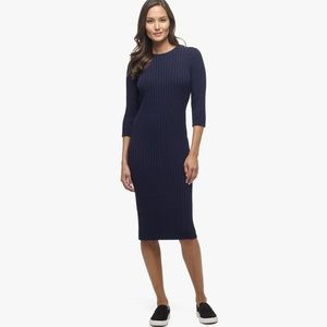 James Perse Cotton Terry Ribbed Dress